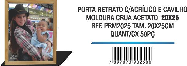 PORTA RETRATO C-ACRÍLICO E CAVILHO 20x25
