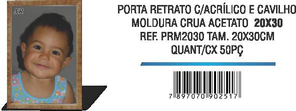PORTA RETRATO C-ACRÍLICO E CAVILHO 20x30