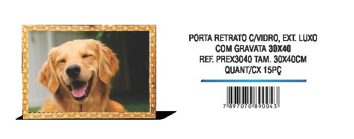 PORTA RETRATO C,VIDRO COLONIAL 30X40