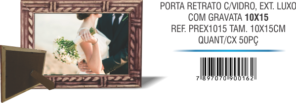PORTA RETRATO C,VIDRO, EXT. LUXO 10x15