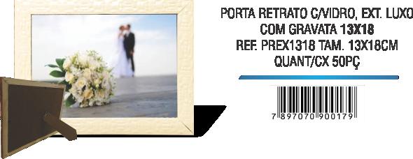PORTA RETRATO C,VIDRO, EXT. LUXO 13x18