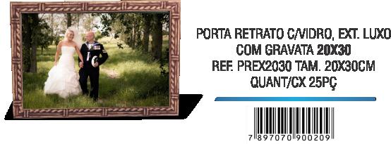 PORTA RETRATO C,VIDRO, EXT. LUXO 20x30