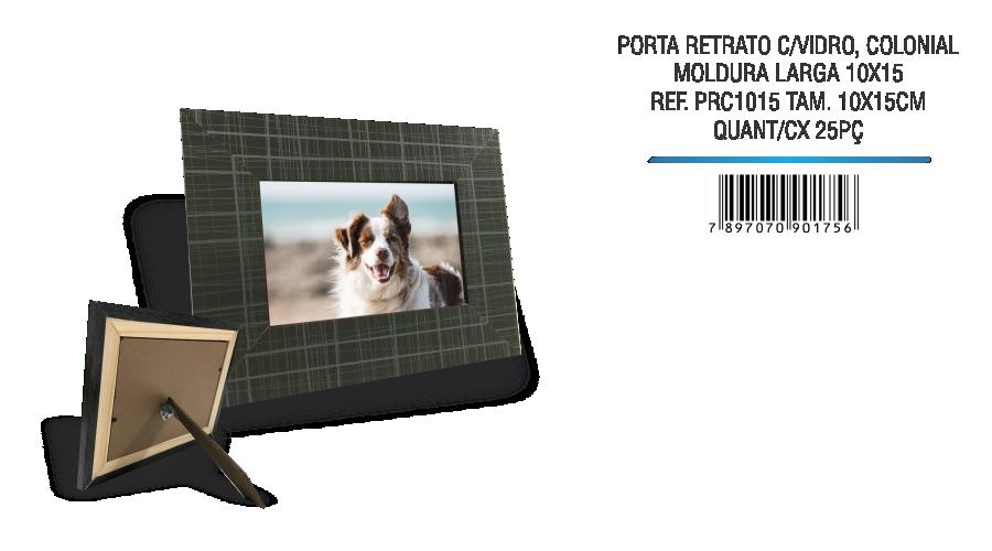 PORTA RETRATO C VIDRO COLONIAL 10X15